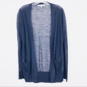 Loft Long Sleeve Career Open Cardigan Sweater Sz L